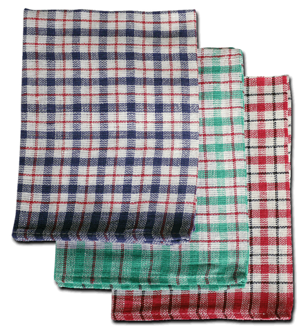 "Caterers Mini Check Tea Towel 19"" x 29"" Pack Of 10"