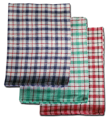 "Caterers Mini Check Tea Towel 19"" x 29"" Pack Of 10 - NCSONLINE"