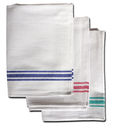 "White Cotton Tea Towel 19"" x 29"" Pack Of 10"