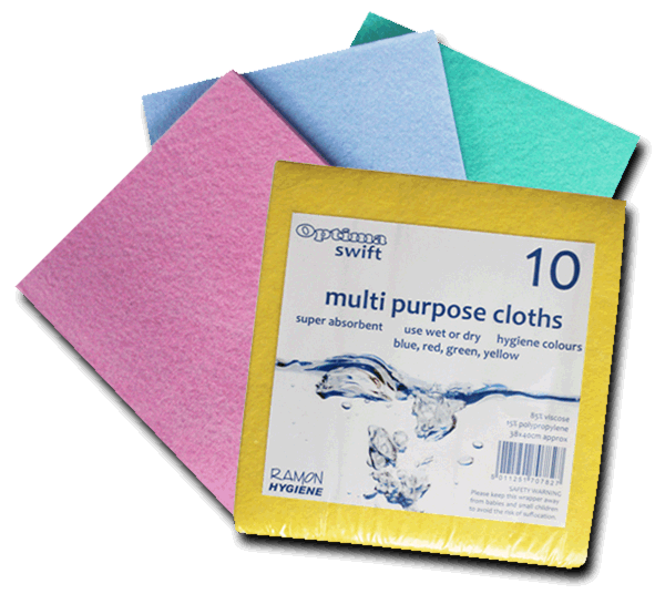 Optima Mediumweight Colour Coded Cloth Pack Of 10 - NCSONLINE