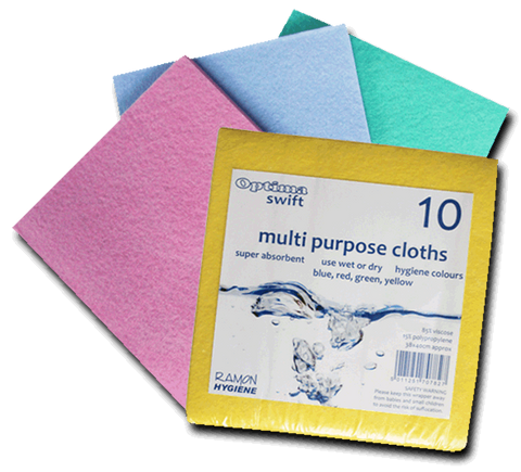 Optima Mediumweight Colour Coded Cloth Pack Of 10