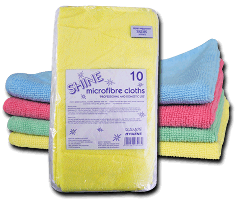 Optima Microfibre Cloth 40cm x 40cm Pack of Ten