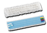 White Microfibre Mop Heads with Colour Coded Tags Pack of 5 - NCSONLINE