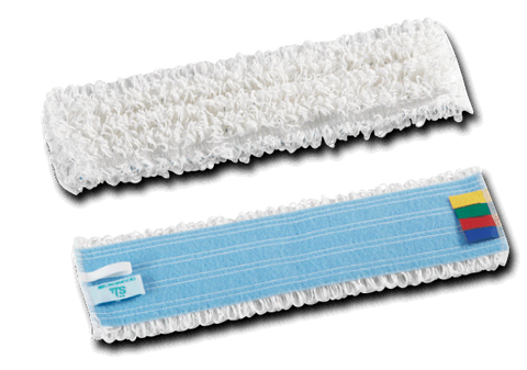 White Microfibre Mop Heads with Colour Coded Tags Pack of 5