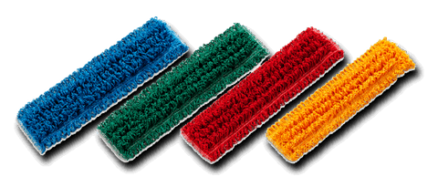 Colour Coded Microfibre Mop Heads Pack of 5