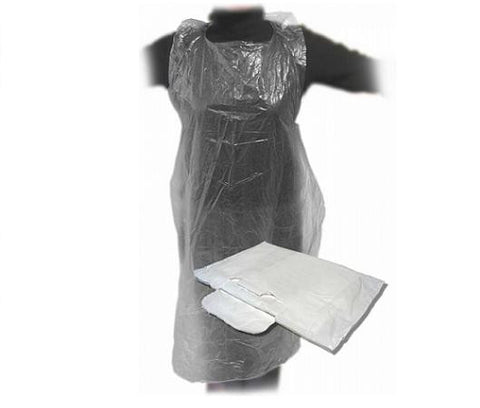 Disposable Flat Pack Aprons Pack Of 100