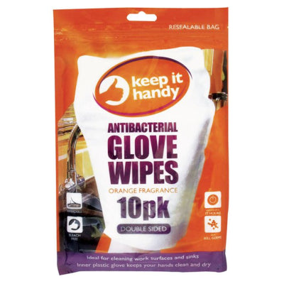 Antibacterial Glove Wipes 10 Pack