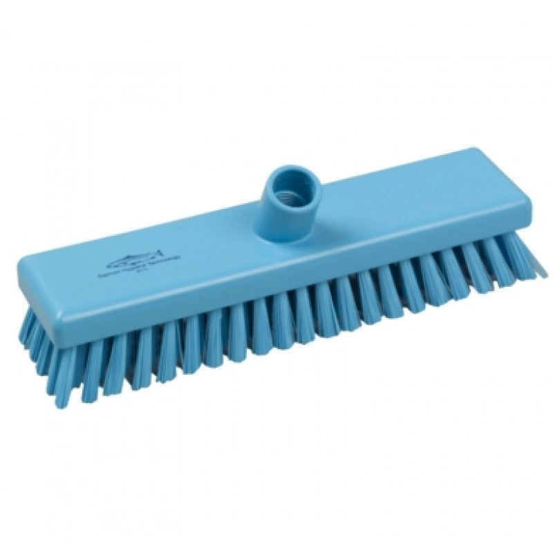 Salmon Hygiene Deck Scrub Blue 300mm - NCSONLINE