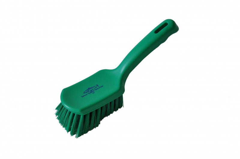 Salmon Hygiene Medium 254mm Short Handled Brush - NCSONLINE