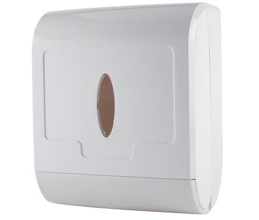 Multi Fold Hand Towel Dispenser White Plastic - NCSONLINE