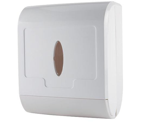 Multi Fold Hand Towel Dispenser White Plastic