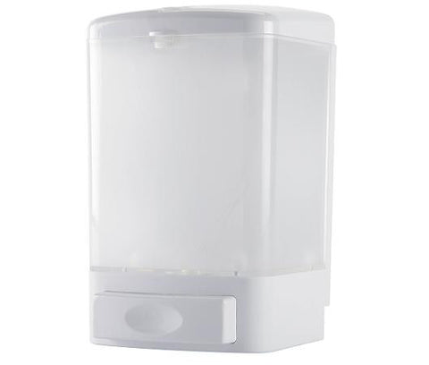 Bulk Fill Soap Dispenser White Plastic 800ml