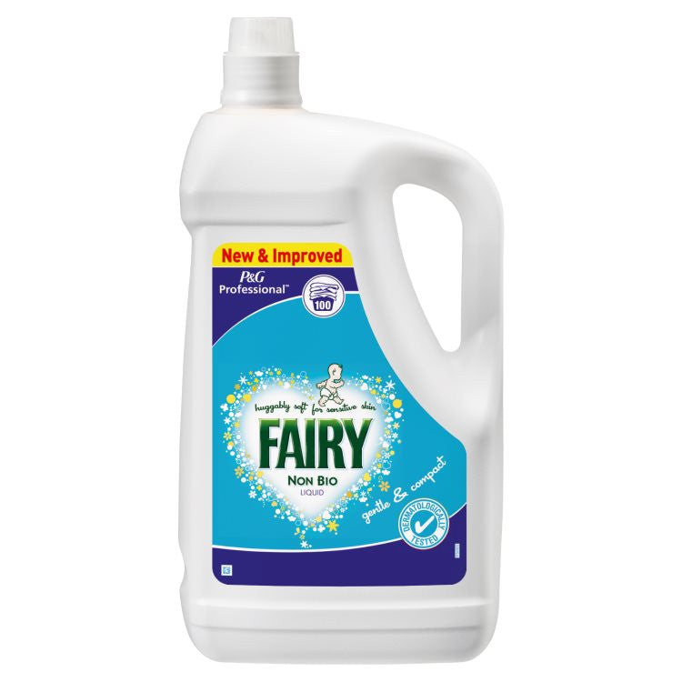 Fairy Non Bio Laundry Liquid 100 Wash 5 ltr - NCSONLINE