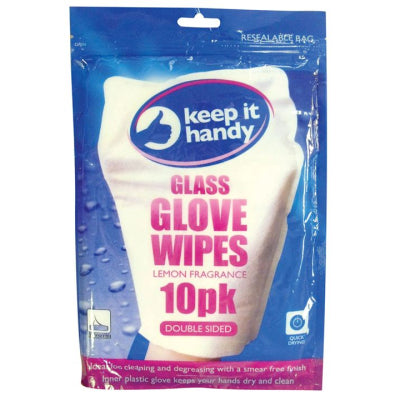 Glass Glove Wipes 10 Pack