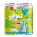 Rhino Kitchen Towel 2Ply White 60 Sheets Pack Of 24