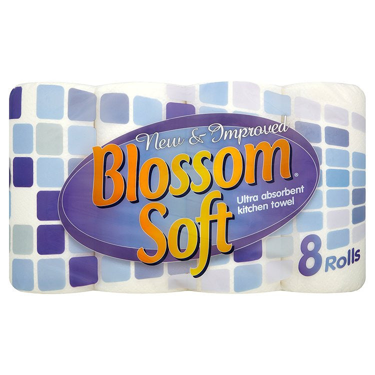 Blossom Soft Kitchen Towel White 3 x 8 Rolls - NCSONLINE