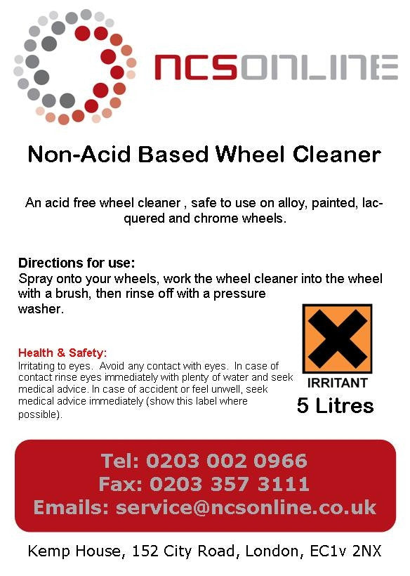 Non Acid Based Alloy Wheel Cleaner 5 Ltrs - NCSONLINE