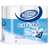 Nicky Soft Touch 210 Sheet Toilet Roll Pack of 40