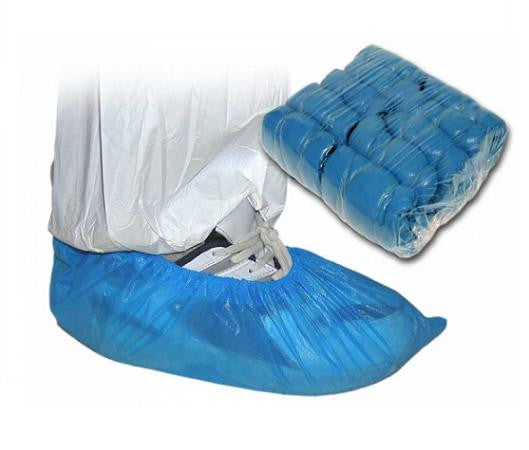 "Disposable Blue Overshoes 14"" x 100 - NCSONLINE"