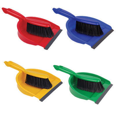 Professional Dustpan & Brush Set Colour Coded