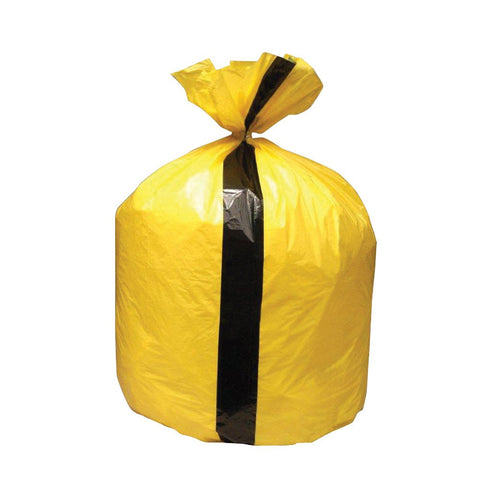"Yellow Tiger Waste Bags 15"" x 28"" x 39"" Box of 200"