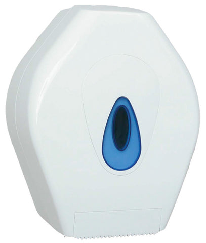 Jumbo Toilet Roll Dispenser White Plastic