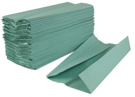 C-Fold 1Ply Green Hand Towels x 2688