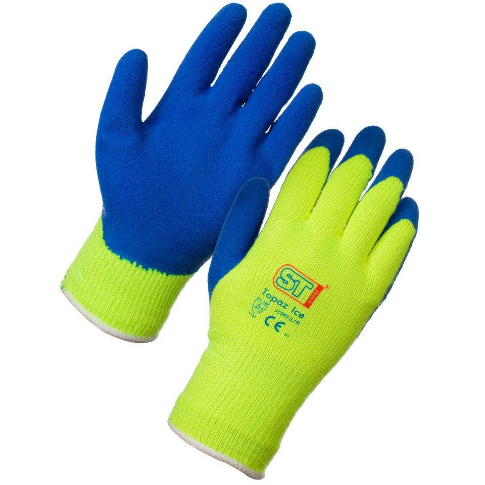Thermal Gloves -Topaz Ice Yellow and Blue - NCSONLINE