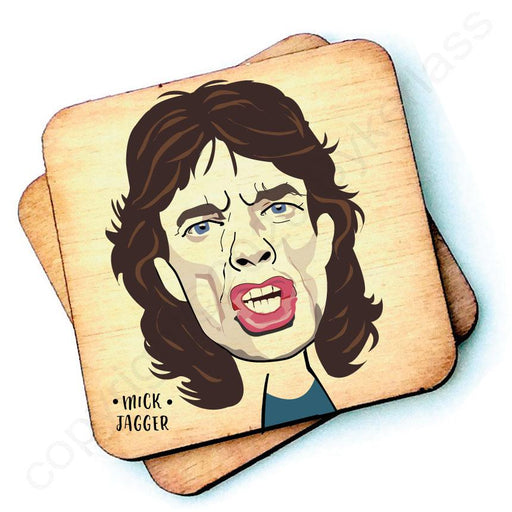 Mick Jagger Character- Wooden Coasters - Decor Interiors -  House & Home