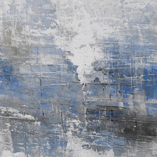 Blue / Grey Abstract Oil Painting - Decor Interiors -  House & Home
