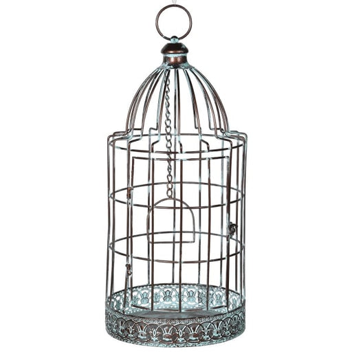 Distresssed Effect Metal Birdcage - Decor Interiors -  House & Home