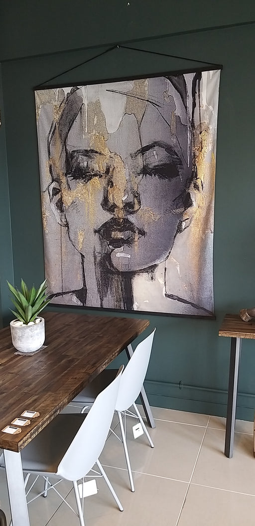 Sketched Female Hanging Wall Art - Decor Interiors -  House & Home