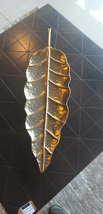 Gold Ornamenment Leaf - Decor Interiors -  House & Home