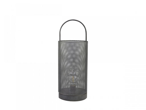 Zinc Metal Mesh Lantern with Bulb - Decor Interiors -  House & Home