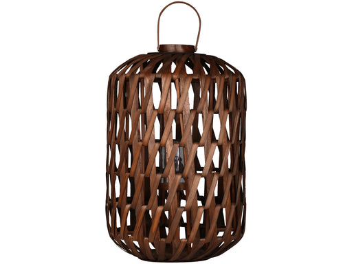 Floor Standing Mocha Wicker Lantern - 71 X 46 cms - Decor Interiors -  House & Home