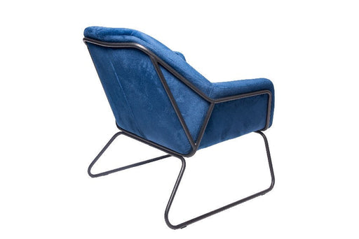 Foxton Porto Blue Velvet Chair - Decor Interiors -  House & Home