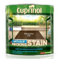 Cuprinol Anti Slip Decking Stain - Hampshire Oak - 2.5 litres - Decor Interiors -  House & Home