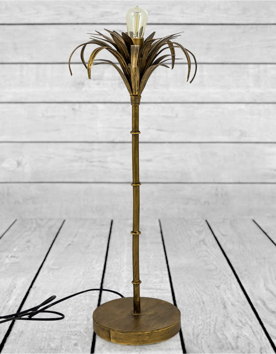 Antique Gold Tropicana Palm Table Lamp - Decor Interiors -  House & Home