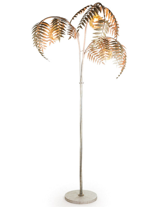 Antique Silver Palm Leaf Floor Lamp - Decor Interiors -  House & Home