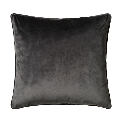 Bellini Velour 45x45cm Cushion, Charcoal Grey - Decor Interiors -  House & Home
