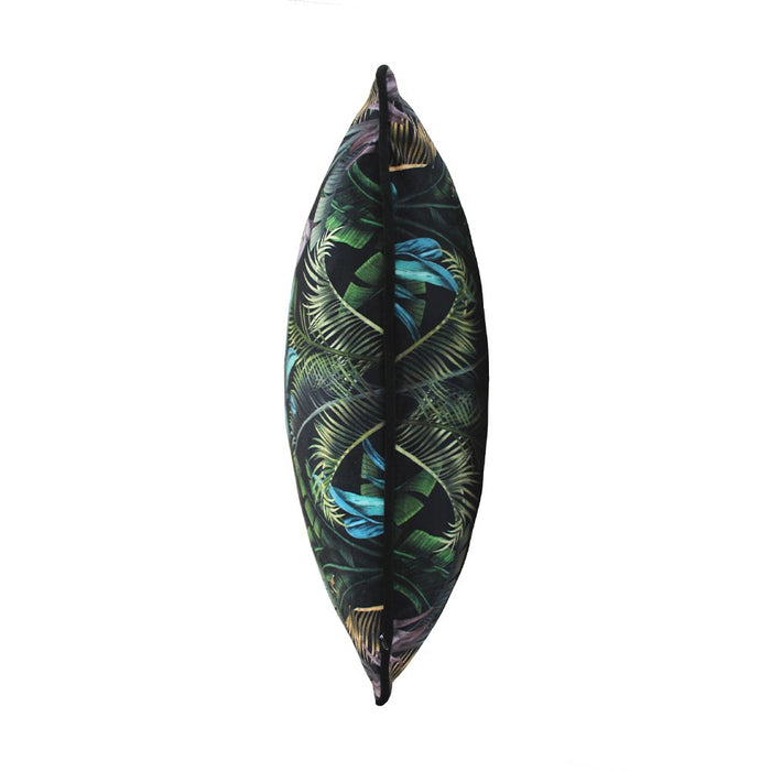 Wild Flora 45x45cm Cushion, Black/Green - Decor Interiors -  House & Home