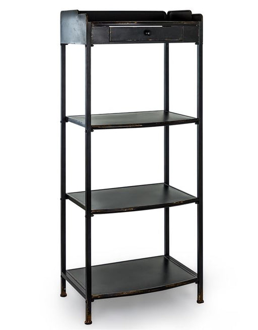 Industrial Black Metal Tall Shelves & Drawer - Decor Interiors -  House & Home