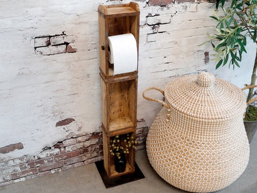 Rustic Floor Standing Toilet Paper Holder - Decor Interiors -  House & Home