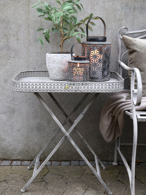 French Style Metal Tray Table - Decor Interiors -  House & Home