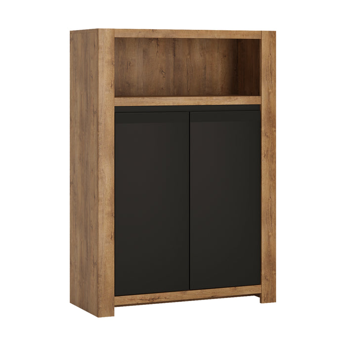 Havana 2 Door Cupboard Open Shelf - Decor Interiors -  House & Home