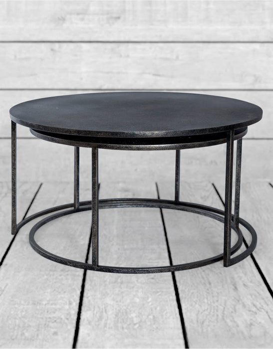 Set of 2 Petwer/Grey Coffee Tables - Decor Interiors -  House & Home