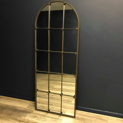 Industrial Sectioned Floor / Wall Mirror - Decor Interiors -  House & Home