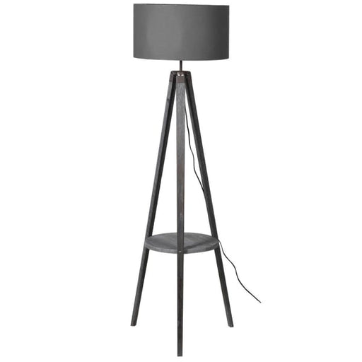 Grey Shade Tripod Floor Lamp - Decor Interiors -  House & Home