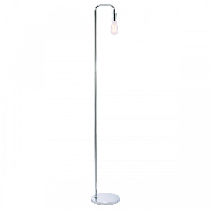 Chrome Minimalist Floor Lamp - Decor Interiors -  House & Home