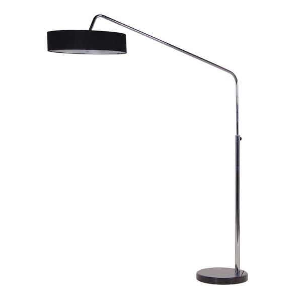 Chrome Floor Lamp with Black Shade - Decor Interiors -  House & Home